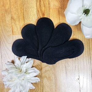 NWOT 5 Pack Black Shoe Liner No Show Socks
